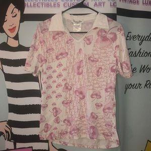 🌸 Rare Vintage DIOR Pink cherry Blossom shirt 10